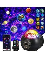 Projetor de luz XUELILI com projetor planeta ajustável com 32 modos,projetor de galaxia, projetor de estrelas, Ocean Wave Projetor Light com alto-falante Bluetooth, luz estrelado para quarto de festa