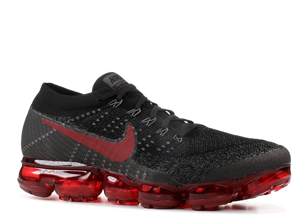 a03091e533 Nike Men's Air Vapormax Flyknit Black/Dark Team Red/Midnight Fog Knit  Running Shoes 11 D(M) US: Buy Online at Low Prices in India - Amazon.in