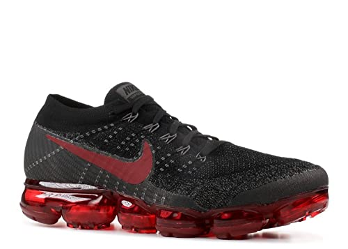 1f5408f7e4d62 Nike Men s Air Vapormax Flyknit Black Dark Team Red Midnight Fog Knit  Running Shoes 11 D(M) US  Buy Online at Low Prices in India - Amazon.in