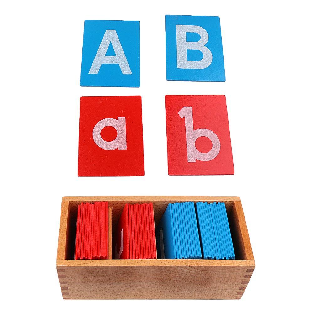 KESOTO Targa In Legno Lettera Alfabeto Supporto Didattico Per Studenti Scuola