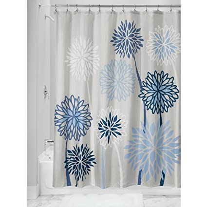 Amazon InterDesign Zinnia Floral Shower Curtain 18288 X