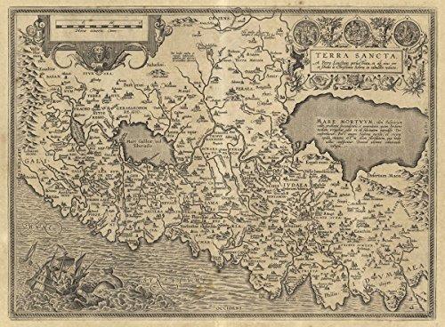 1608 World Atlas   Terra Sancta  A Petro Laicstain Perlustrata  Et Ab Eius Ore Et Schedis A Christiano Schrot In Tabulam Redacta    Antique Vintage Map Reprint