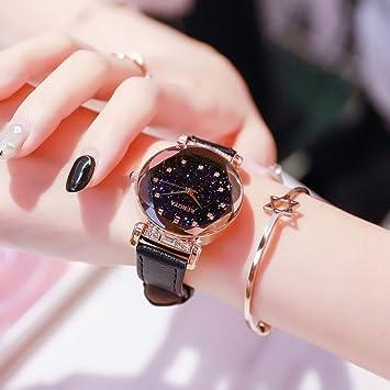 Relojes De Moda para Dama - Reloj De Pulsera De Correa De Cuero con Diamante Analógico
