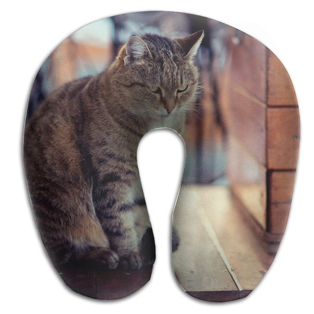 U-Shaped Pillow Neck Shoulder Body Care Cat Look Wood Board Sitting Health Soft U-Pillow For Home Travel Flight Unisex Supportive Sleeping by Godfery (Image #1)