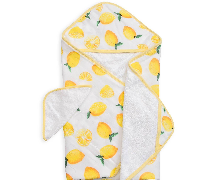 Little Unicorn Cotton Hooded Towel & Wash Cloth Set - Lemon Set, Yellow by Little Unicorn