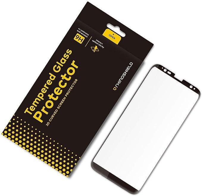 RhinoShield Protection écran Compatible avec [Galaxy S8]   Verre Trempé Bord Bord 9H - Résistance aux Rayures et Traces de Doigts - Dureté 9H ...