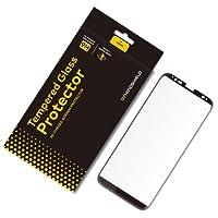 RhinoShield Protection Écran pour Samsung Galaxy S8+ [Verre Trempé Non Bord à Bord 9H]   Résistance aux Rayures - Protection 3D courbée - Adhésif Complet