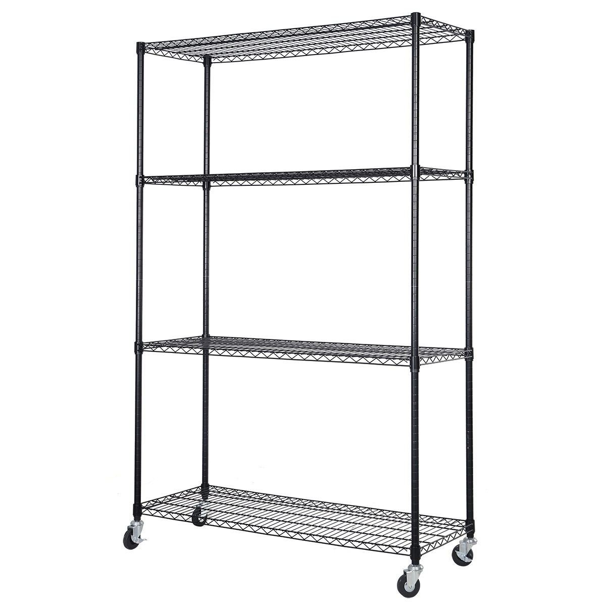 MasterPanel -48'' x 18'' x 72'' Adjustable 4 Tier Shelf Steel Wire Metal Shelving Rack Storage #TP3320
