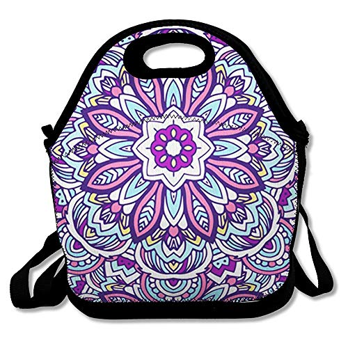 Lunch Bags for Women Men Insulated Abstract Tribal Ethnic African Ornate Arabesque Arabic Aztec Bookmark Design Patter Lunch Tote for School Office and Work (Aztec Bookmark)