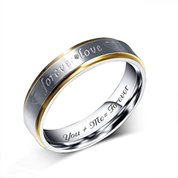 Pure Silver Personalized Promise Rings set of 2 rings 3 or 4 mm wide couples promise rings