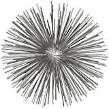 Torre & Tagus 901917B Spike Decor Sphere Sculpture, Large, Silver