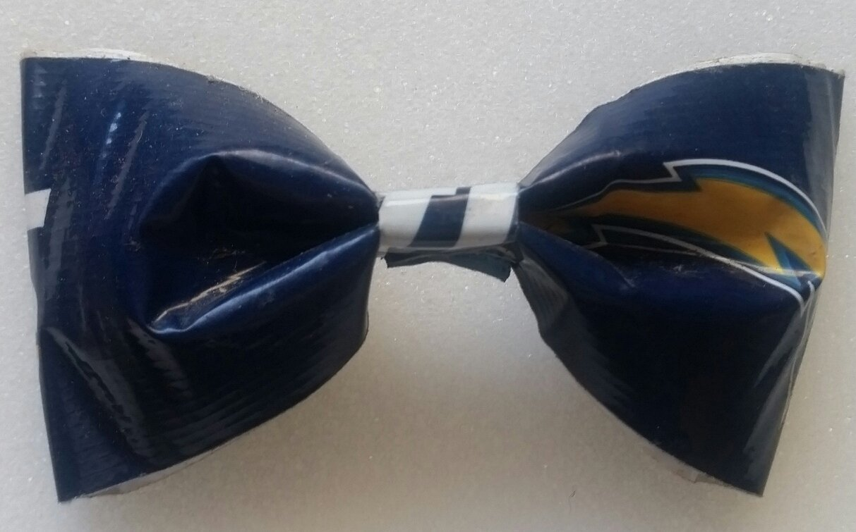 San Diego Chargers Bobby Pin Hair Bow or Bow Tie