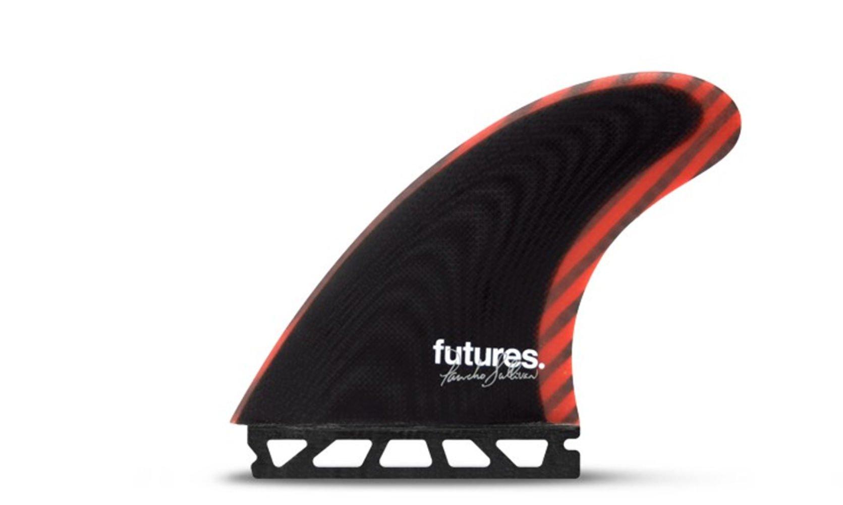 Futures Unisex Pancho Control Series Tri Fin Set BlackRed L