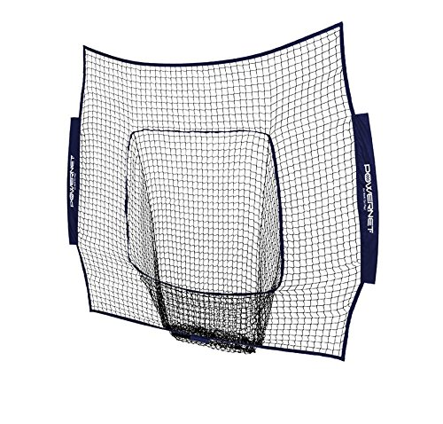 PowerNet Team Color Nets Baseball and Softball 7x7 Bow Style (NET ONLY) Replacement | Team Colors | Heavy Duty Knotless | Durable Black PU Coated Polyester | Double Stitched Seams for Extra Strength