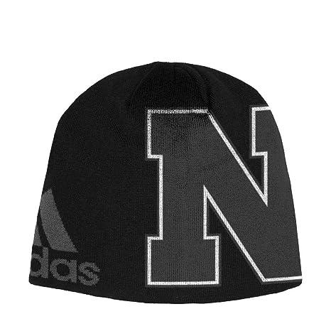 9276fef9e733e6 ... discount code for adidas nebraska cornhuskers beanie black knit hat  05810 4ac24 top quality ncaa ...