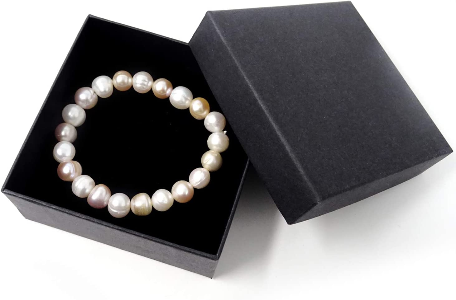 HONBAY Simple Stylish Fresh Water Pearl Stretch Bracelet for Girls and Women