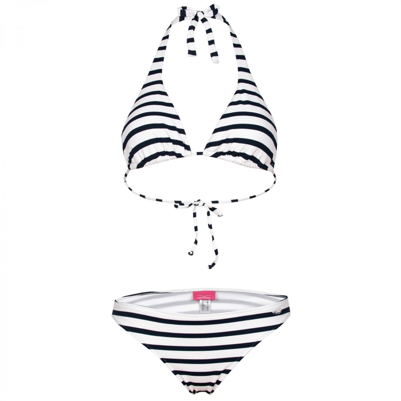 Venice Beach Triangel Bikini Neckholder Streifen navy-white