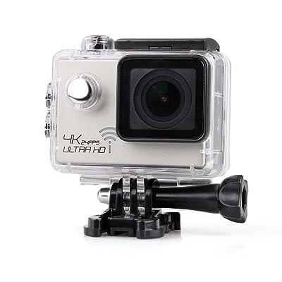 4k Ultra Hd 1080p Caméra étanche Sport 12mp Wifi Dv L'action - Argenté