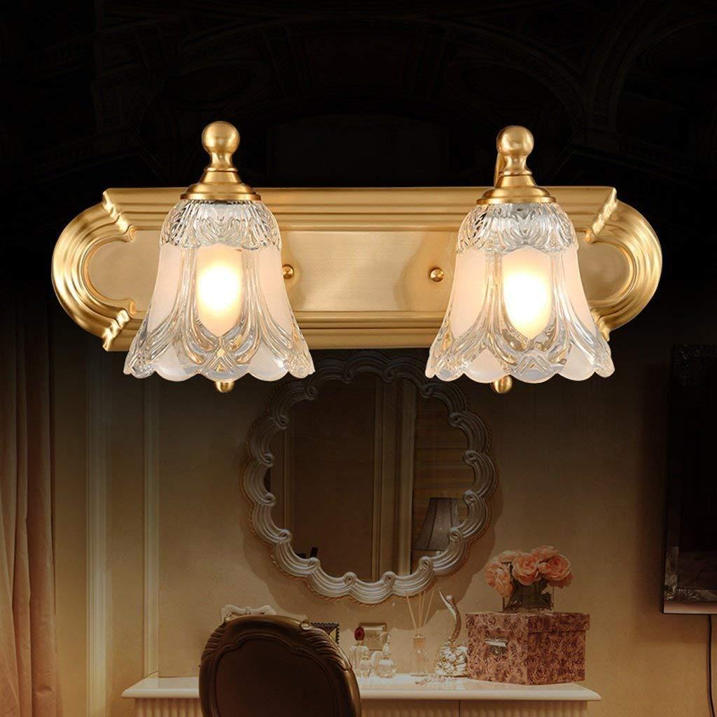Fenciayao クロップミラーは、国会議事堂の銅の防火壁ランプのクリスタルキャビネットコピーのヘッドランプ壁取り付け用燭台のバスルームEのフロントランプを追跡します (Color : 45*25cm)  45*25cm B07QNJB75Q