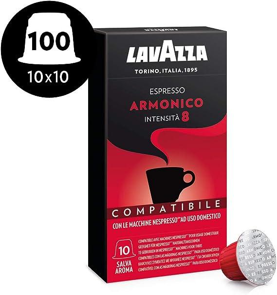 Lavazza Cápsulas de Café Compatibles Nespresso Espresso Armonico ...