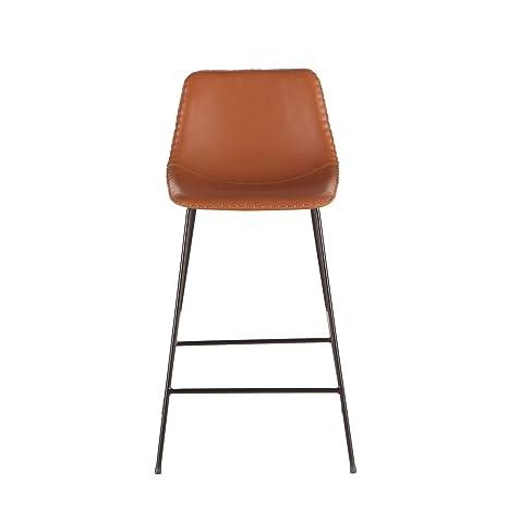 Astounding Amazon Com World Interiors Tan Faux Leather Counter Height Inzonedesignstudio Interior Chair Design Inzonedesignstudiocom