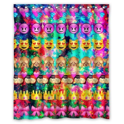 Emoji Expressions Kids Room Curtains