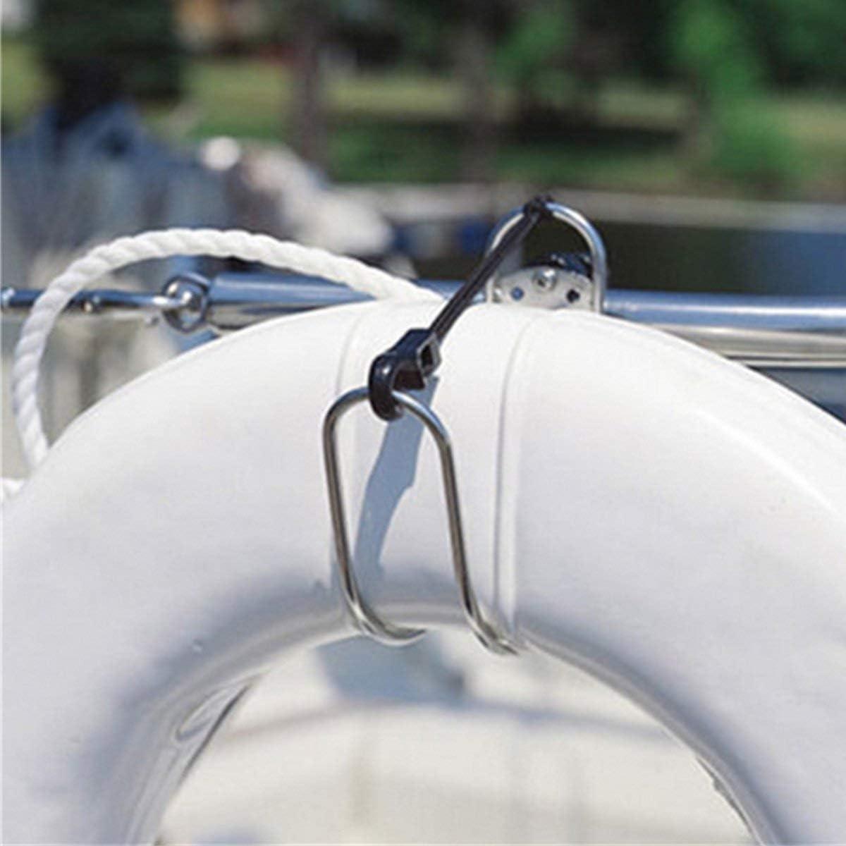 Accessories Lifebuoy Holder Stainless Steel Rowing Boat Yacht Horseshoe Bracket