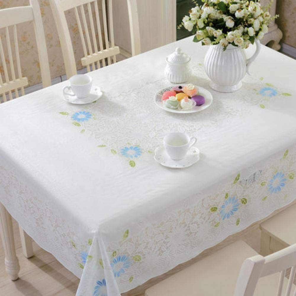 WJJYTX Plastic Table Covers Wipe clean,Square Modern/Protector Textile Backing Vintage Pattern -132 * 177_E