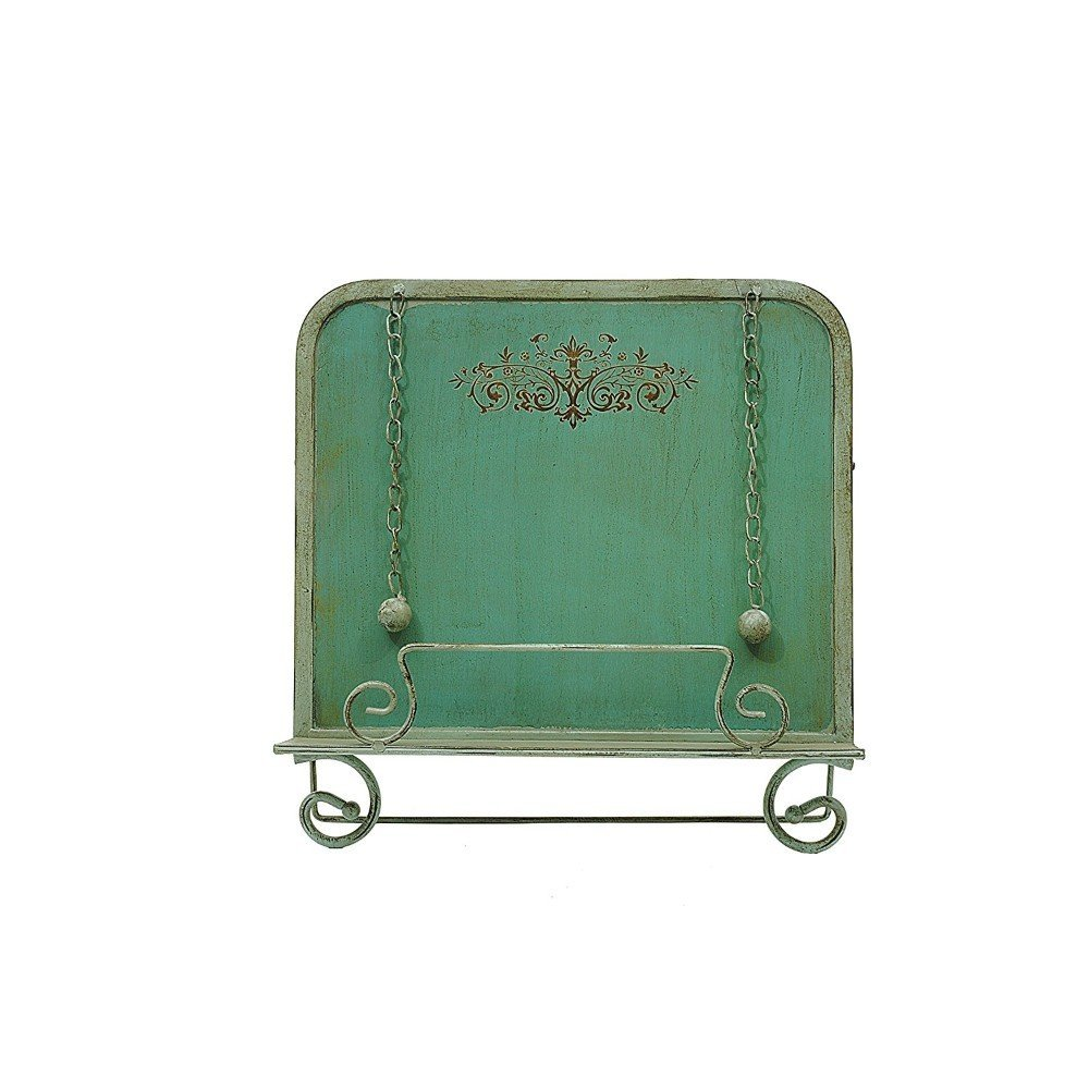 Creative Co-Op DE2617 Metal Cookbook Holder, Blue by Creative Co-op