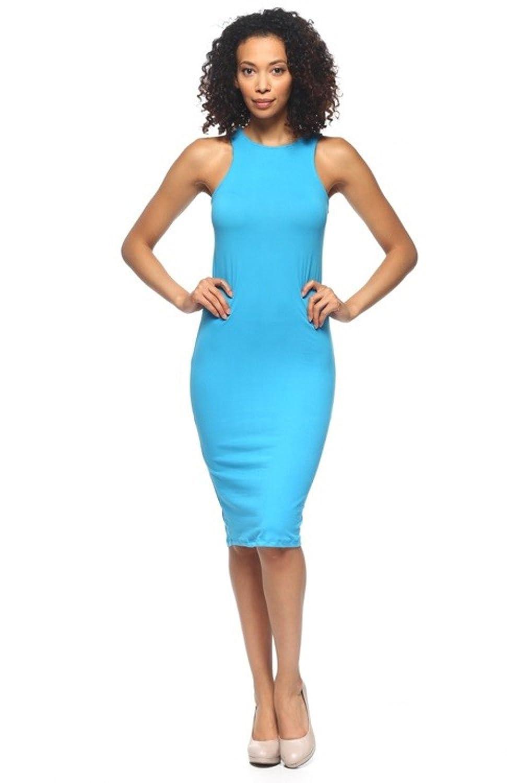 2LUV Women's Body-Con Sleeveless Midi Tank Dress
