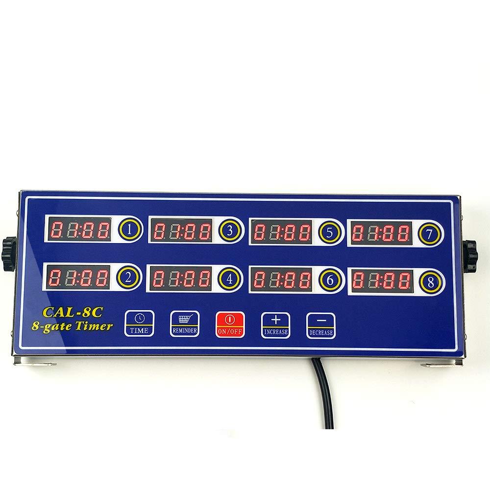 Li Bai Kitchen Cooking Timer 8 Channels Digital LED Alarm Reminder Clock Commercial Restaurant Home Loud Adjustable Clear Display Stainless Steel