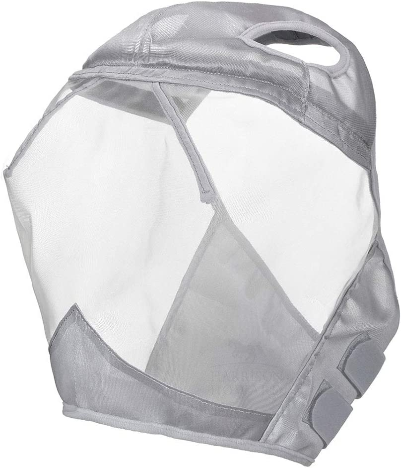 L; Full Size Harrison Howard CareMaster Fly Mask Standard Moonlight Silver