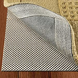Non Slip Rug Pad Size 8u0027 X 10u0027 Extra Strong Grip Thick Padding And High  Quality