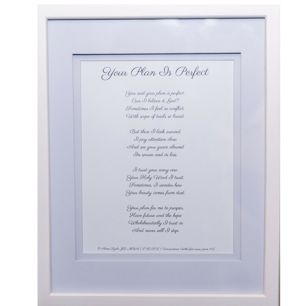 Christian Poems by Anna Szabo #PoemsFromGod Your plan Is perfect framed poetry for Prayer Hallway