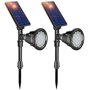 DBF LED Waterproof Solar Spotlights