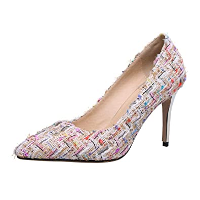 newest collection 1b586 fa257 Amazon.com | Coolululu Womens Pointed Toe Red Bottom Pumps ...