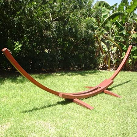 amazon     solid cypress wood arc hammock stand   garden  u0026 outdoor  rh   amazon