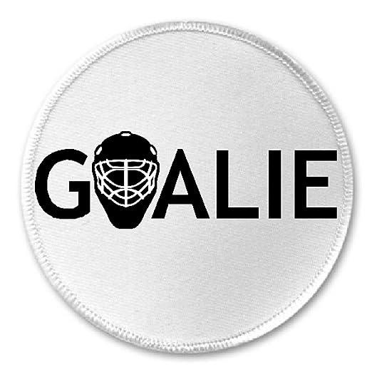 Amazon Com Goalie 3 Sew Iron On Patch Hockey Mask Sports Team Ice Rink Player Coach Clothing