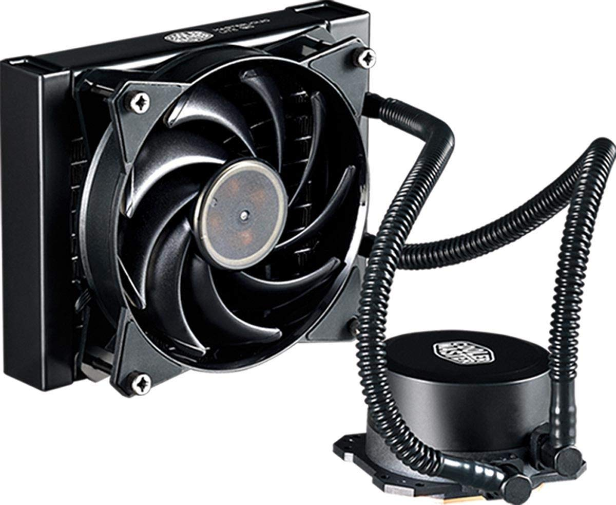 Cooler Master MasterLiquid Lite 120 CPU Liquid Cooler '120mm Radiator, 1x MasterFan Pro 120 AB PWM Fan, White LED' MLW-D12M-A20PW-R1