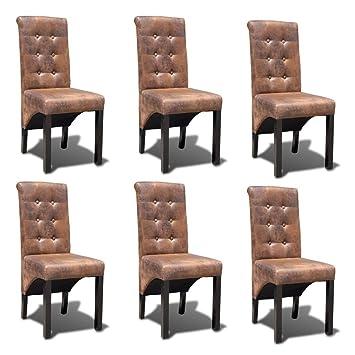 Esstisch Stück Leder Stühle Lingjiushopping Künstliche 6 ZuOiPkTX