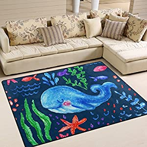 61EnwF4rlYL._SS300_ Whale Area Rugs & Whale Runners