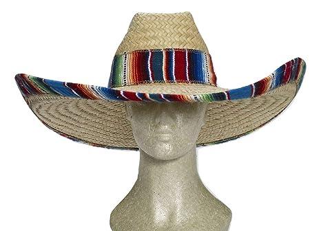 6e4be06d5 Forum Novelties 72914 Giant Straw Cowboy Hat, Multi-Color, Standard, Pack  of 1