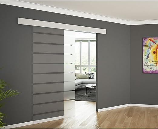 Puerta corredera de cristal cristal de puerta corredera puerta de cristal división de cubierta de aluminio 1025 x 2050 raya concha: Amazon.es: Hogar