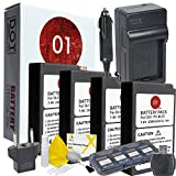 4x DOT-01 Brand 2000 mAh Replacement Olympus BLS-5 Batteries and Charger for Olympus PEN E-PL7, E-PL5, E-PL2, E-PM2, STYLUS 1, STYLUS 1S, OM-D E-M10 Digital Camera and Olympus BLS5 Accessory Bundle