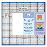 June Tailor Get Squared Ruler-12-1/2-Inch Outer, 6-1/2-Inch Inner