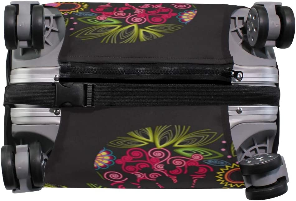 3D Flowers And Butterflies Print Luggage Protector Travel Luggage Cover Trolley Case Protective Cover Fits 18-32 Inch