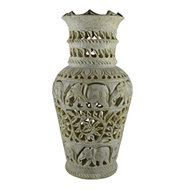 Amazon Royal Handicrafts Handcrafted Soapstone Vase With