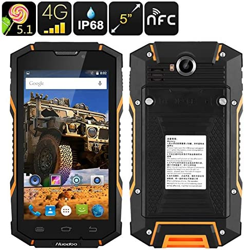 Huadoo HG06 Rugged Smartphone (Orange): Amazon.es: Electrónica