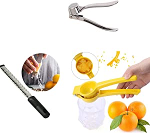 juicer Aluminum alloy lemon hand-press manual orange lime kitchen fresh squeezed juice tool garlic press grater party Halloween