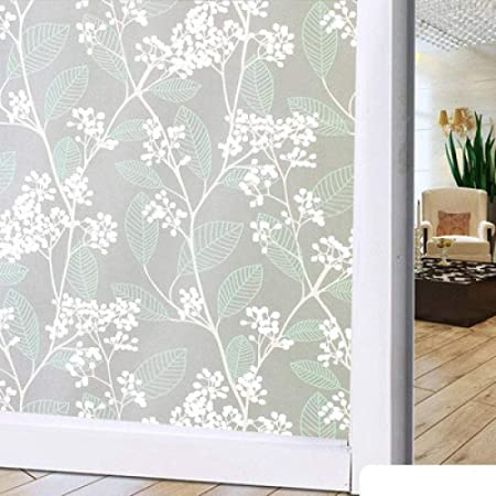Vinilos decorativos para ventanas 45 * 100 cm Lámina de vidrio de rejilla tipo mampara de vidrio baño compañía pegatina de ventana oficina transparente opaco protector solar ventana pegatina @ Flowe: Amazon.es: Hogar